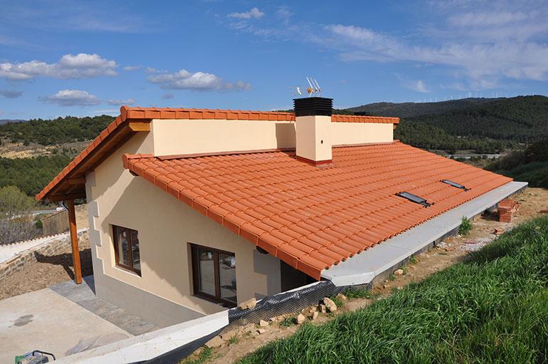 Casa modular en pueyo pop up project s l - Techos modulares ...