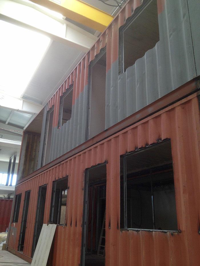 Casa con contenedores en navarra pop up project s l - Contenedores para casa ...
